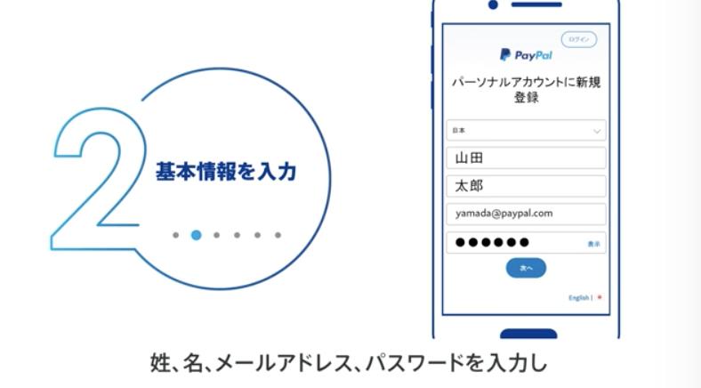 ペイパルの新規登録手順3